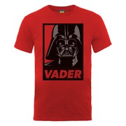 Star Wars Men's Darth Vader Head Art Poster T-Shirt - Red