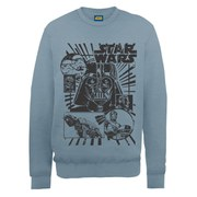 Star Wars Darth Vader and Characters Sweatshirt - Stone Blue