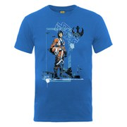 Star Wars Men's Luke Skywalker Pilot Distressed T-Shirt - Royal