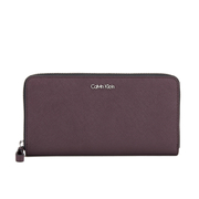 Calvin Klein Sofie Large Leather Purse - Claret