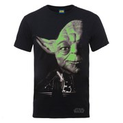 Star Wars Zavvi Exclusive May the 4th be with you Yoda Glow in the Dark Collegiate Foil T-Shirt  - Black
