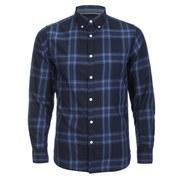 Produkt Men's DEK 83 Long Sleeved Check Shirt - Navy Blazer 2