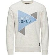 Jack & Jones Men's NOOS Speed Crew Neck Sweatshirt - Treated White