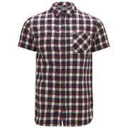 Jack & Jones Men's Originals Ray Checked Short Sleeve Shirt - Port