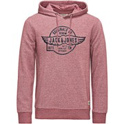 Jack & Jones Men's Originals Paint Sweat Hoody - Burgundy