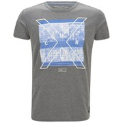 Jack & Jones Men's Core Square Crew Neck T-Shirt - Grey Melange