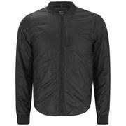 REPLAY Men's Baseball Collar Zipped Jacket - Black