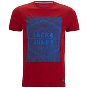 Jack & Jones Men's Core Dry Crew Neck T-Shirt - Barbados Cherry