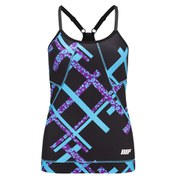 Myprotein Dámský FT Graffiti Tank Top – Black Square