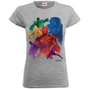 Marvel Women's Avengers Age of Ultron Team Colours T-Shirt - Heather Grey