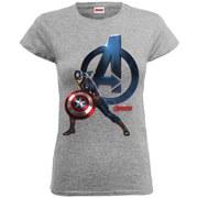 Marvel Women's Avengers Age of Ultron Captain America T-Shirt - Heather Grey