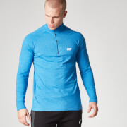 Myprotein långärmad Performance T-shirt 1/4 Zip  - Blue Marl