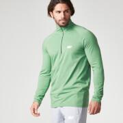 Myprotein Herren Performance Langarm 1/4 Reisverschluss Shirt - Grün