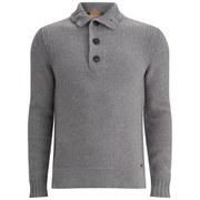 BOSS Orange Men's Amaren Mock Neck Knitted Jumper - Grey