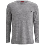 HUGO Men's Dhom Long Sleeve T-Shirt - Grey Marl