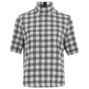 Gestuz Women's Louise Check Top - Black/White