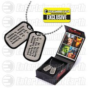 Marvel Captain America Steve Rogers Entertainment Earth Exclusive Prop Replica Dog Tags