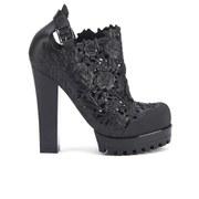 Alexandre Herchcovitch for Melissa Women's Flower Heeled Shoe Boots - Black