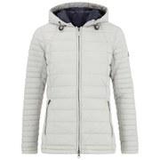 Barbour Women's Landry Baffle Quilt Coat - Silver Ice/Navy