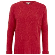 Barbour Womens Kirkby Cable Crew Jumper - Red