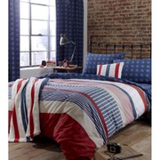 Catherine Lansfield Stars and Stripes Duvet Set - Multi