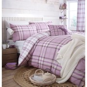 Catherine Lansfield Kelso Duvet Set - Purple