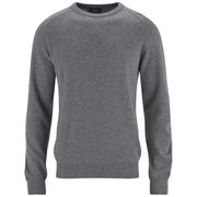 A.P.C. Men's Pull Carl Wool and Cashmere Crew Knitted Jumper - Grey