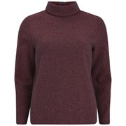 A.P.C. Women's High Neck Jumper - Bordeaux Chine