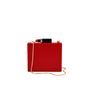 Lulu Guinness Women's Chloe Perspex Clutch Bag with Lipstick - Red