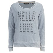 Maison Scotch Women's Burnout Sweatshirt - Grey