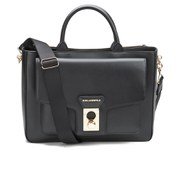 Karl Lagerfeld Women's K/Pin Closure Tote Bag - Black