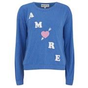 Wildfox Women's Amore Oversized Sweatshirt - Cobalt Sea