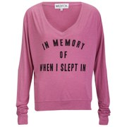 Wildfox Women's After Children Baggy Beach V Neck Jumper - Pink