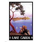 Vintage Travel Lake Garda Print