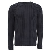G-Star Men's Ave Round Neck Knitted Jumper - Mazzarine Blue