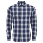 G-Star Men's Rivo Core Long Sleeve Shirt - Imperial Blue Twill Check