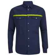 Marc by Marc Jacobs Men's Lightweight Twill Shirt - Marine Blue