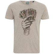 Scotch & Soda Men's Printed Short Sleeve T-Shirt - Sand Melange