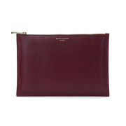 Aspinal of London Women's Essential Large Flat Pouch - Burgundy