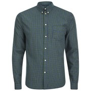 Paul Smith Jeans Men's Cotton Checked Shirt - Green