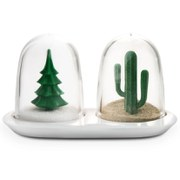Qualy Winter/Summer Salt and Pepper Shakers - Green