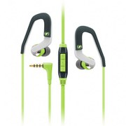 Sennheiser OCX 686G Sports Hook Earphones Inc In-Line Remote & Mic - Green/Grey