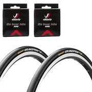 Continental Grand Prix TT Ltd Clincher Road Tyre Twin Pack with 2 Free Inner Tubes - Black 700c x 23mm