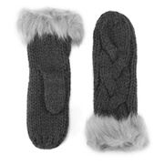 ONLY Womens Allison Knit Mittens - Dark Grey