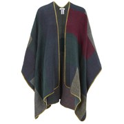 ONLY Women's Amy Colour Block Poncho - Medieval Blue