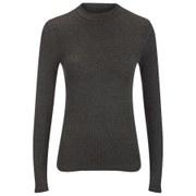 ONLY Women's Brook Rib Turtleneck Top - Dark Grey