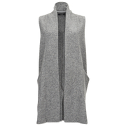 VILA Women's Liana Long Waistcoat - Light Grey
