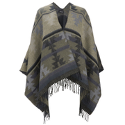 VILA Women's Tana Aztec Knitted Poncho - Black - One Size