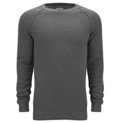Selected Homme Men's Shrome Crew Neck Knitted Jumper - Mid Grey