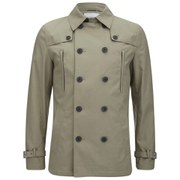 Selected Homme Men's Shbowery Double Breasted Trench Coat - Sand